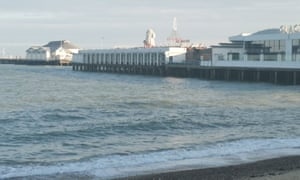 Clacton pier where the 14-year-old was pulled from the sea.