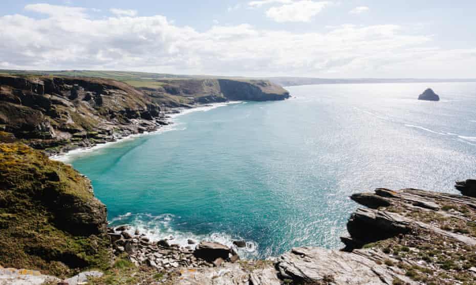 Rocky coastline near Tintagel