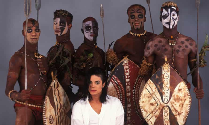 Michael Jackson on the set of Black or White.