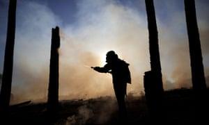 Fighting wildfires near Brasilia, Brazil, last week.