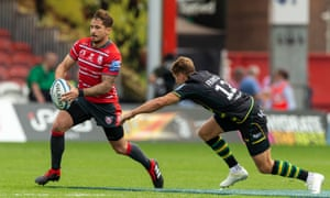 Danny Cipriani eludes the Northampton centre Piers Francis at Kingsholm.