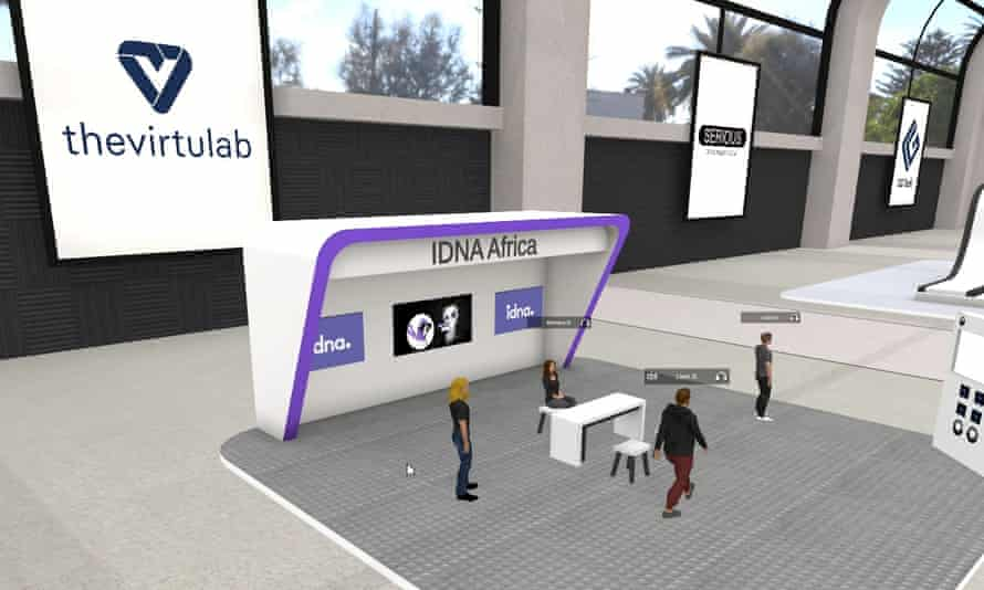 A screengrab of an event hosted by Virtulab