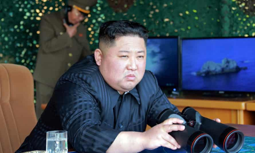 North Korean official media said Kim Jong-un 'personally organised and guided' Thursday's two short range missile launches.