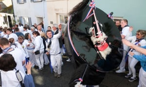 The 2016 Obby Oss festival in Padstow