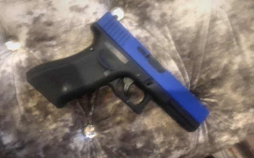 The toy gun belonging to Kai Agyepong.