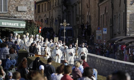 A procession in the streets of Assisi