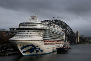 The Ruby Princess docked in Sydney's Circular Quay in February