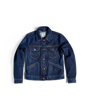 A denim jacket piece from the 19-piece collection.