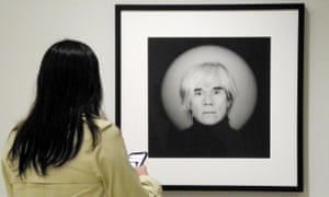 A Robert Mapplethorpe portrait of Andy Warhol at the Guggenheim, New York.