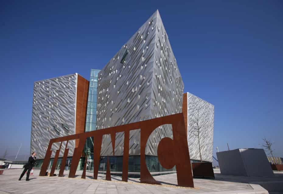 The Titanic Belfast visitor centre.