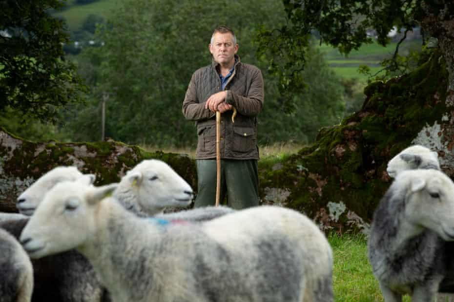 James Rebanks with some of his sheep.