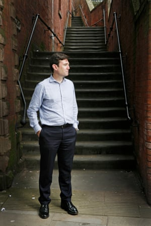 Andy Burnham MP campaigning in Stockport to be selected as Labour's candidate for Manchester mayor