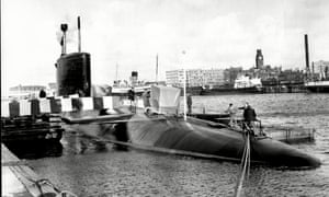 Nuclear submarine HMS Resolution, pictured in the mid-1960s: 'British taxpayers have been saddled for 65 years with an expensive, but fundamentally useless weapons system.'