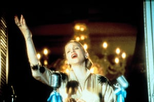 1996: A still from Evita, the Alan Parker film in which the singer played the former First Lady of Argentina. Her performance as Eva Peron marked an acting high for Madonna
