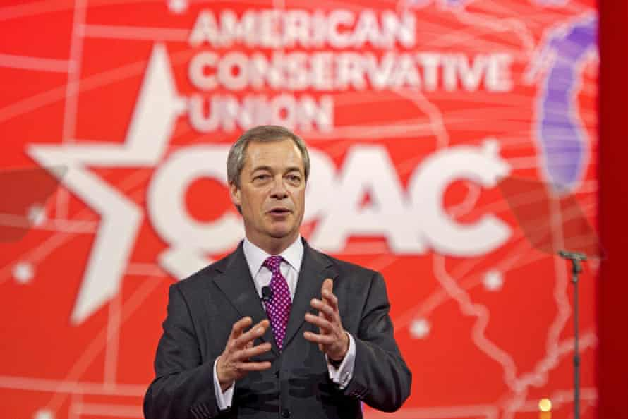 Nigel Farage at CPAC in Marlyand, US
