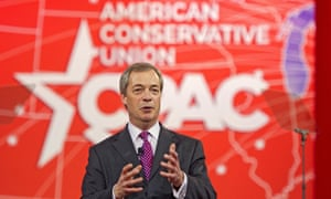 Nigel Farage spoke at CPAC in 2015. His rise in popularity among American conservatives has coincided with David Cameron's closer ties to the Obama administration.