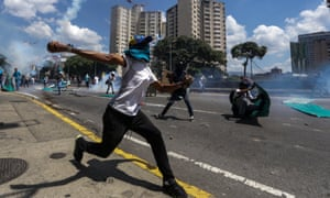 Protester in Caracas
