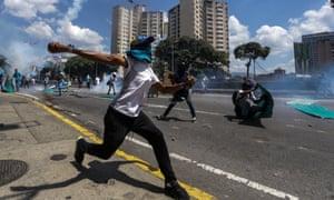 Protester in Caracas