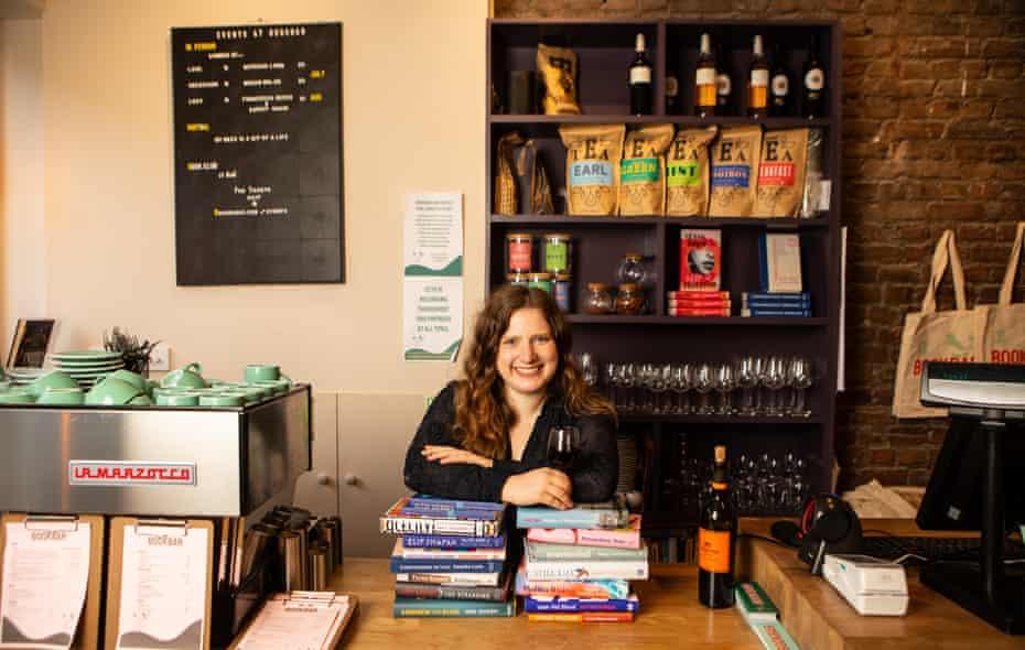 Chrissy Ryan in her liccensed bookshop, BookBar