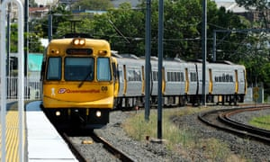 A Queensland Rail passenger train