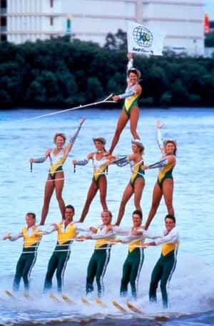 Brisbane River waterski show 1988