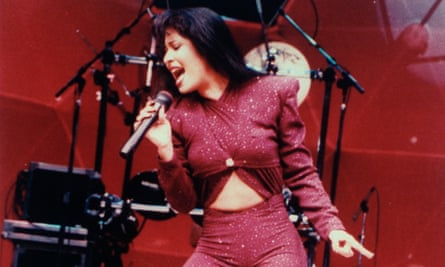 Tex-Mex singer Selena performing in concert in 1995, a month before she was shot dead.