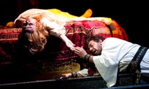 Marina Popslavskaya as Desdemona and Placido Domingo as Otello in a Royal Opera House production of Verdi's opera.