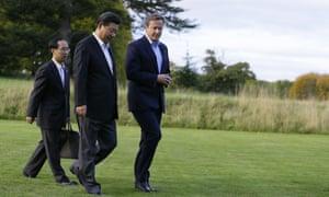 David Cameron and Xi Jinping at Chequers.