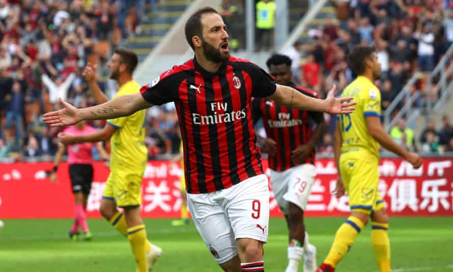 Gonzalo Higuaín spent the first half of this season on loan at Serie A club AC Milan.
