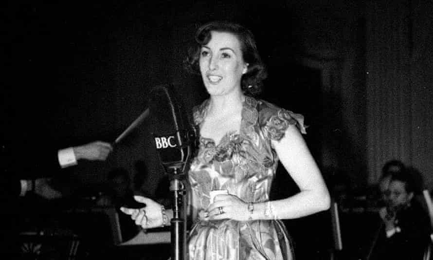 Vera Lynn on stage at the Grosevnor House in London during the National Radio Awards 1949