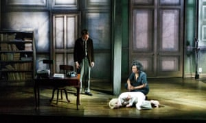 World of chance … Mark Edel-Hunt, Jack Tarlton and Vivienne Acheampong in City of Glass.