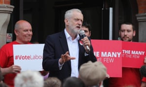 Labour leader Jeremy Corbyn campaigning in Hucknall.