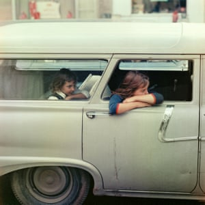 Two girls in a car, Washington D.C., 1967