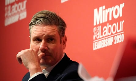 Keir Starmer takes part in the last Labour party leadership hustings at Dudley town hall on 8 March