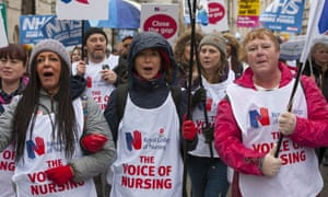 Health workers and campaigners march through London demanding more funds for the NHS.