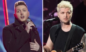 (L-R) James Arthur and Danny O'Donoghue of Irish band the Script.