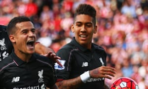 Philippe Coutinho, left, told Roberto Firmino Liverpool is great club with a great team spirit during Brazil's Copa América campaign.
