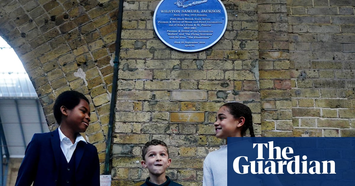 Blue plaque for Britain's first black train driver unveiled at King's Cross