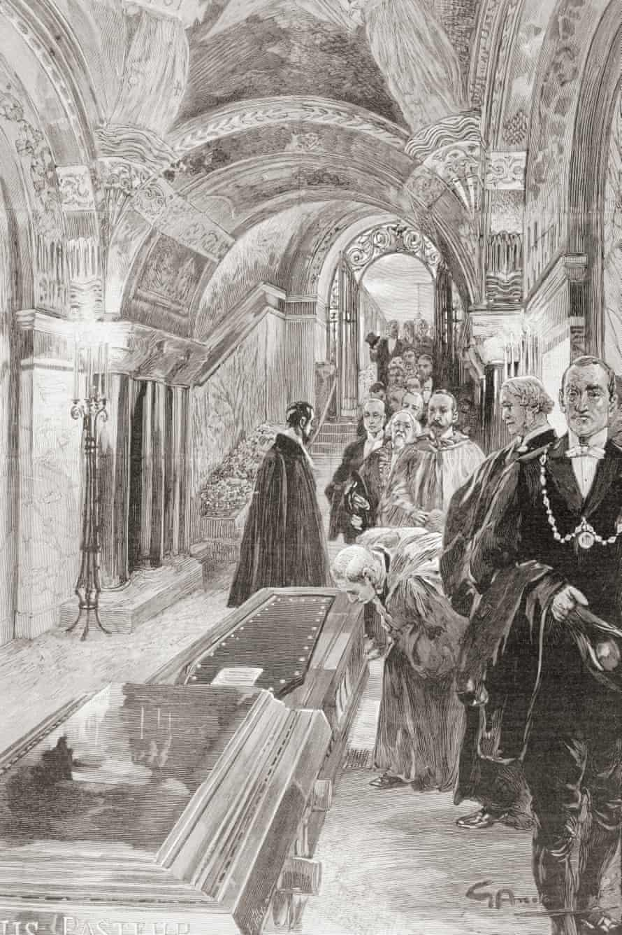The Tomb Of Louis Pasteur In The Pasteur Institute, Paris, from L'Illustration, 1897.