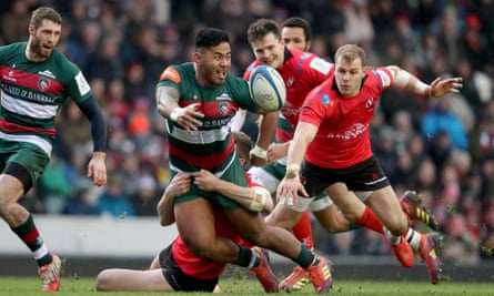 Manu Tuilagi in action for Leicester v Ulster