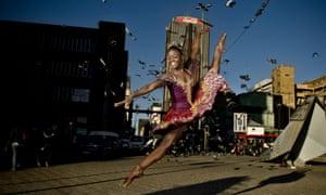 2012年,约翰内斯堡的芭蕾舞演员Michaela DePrince。