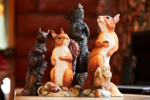 Squirrel ornaments in the home of Julie Bailey.