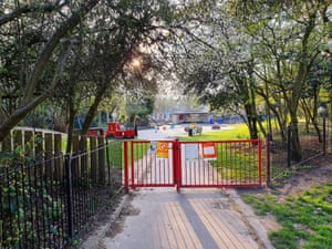 Highbury Fields playgrounds in north London are closed due to the coronavirus outbreak
