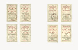 Eight Coffee Stains, 7 x 4 in. (17.8 x 10.1 cm), photograph by Mairead Lambert, collection of Annie Atkins