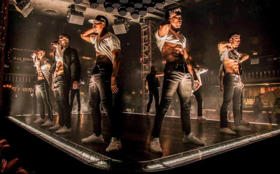 A production shot from a previous production of Magic Mike Live.