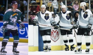 In January of 1996, The Los Angeles Kings and Mighty Ducks of Anaheim threw all hockey traditions aside as they assaulted the senses of the So-cal crowd by wearing these alternate jerseys.