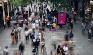 Shoppers at Pitt Street mall