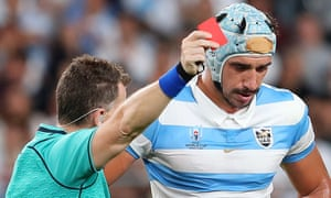 Tomás Lavinini's dismissal for Argentina against England came with his side only 5-3 down and with three-quarters of the match remaining.