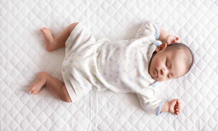 Baby girl lying down