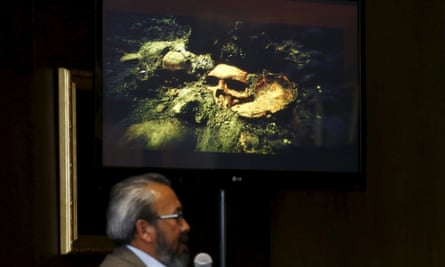 Archaeologist Raul Barrera